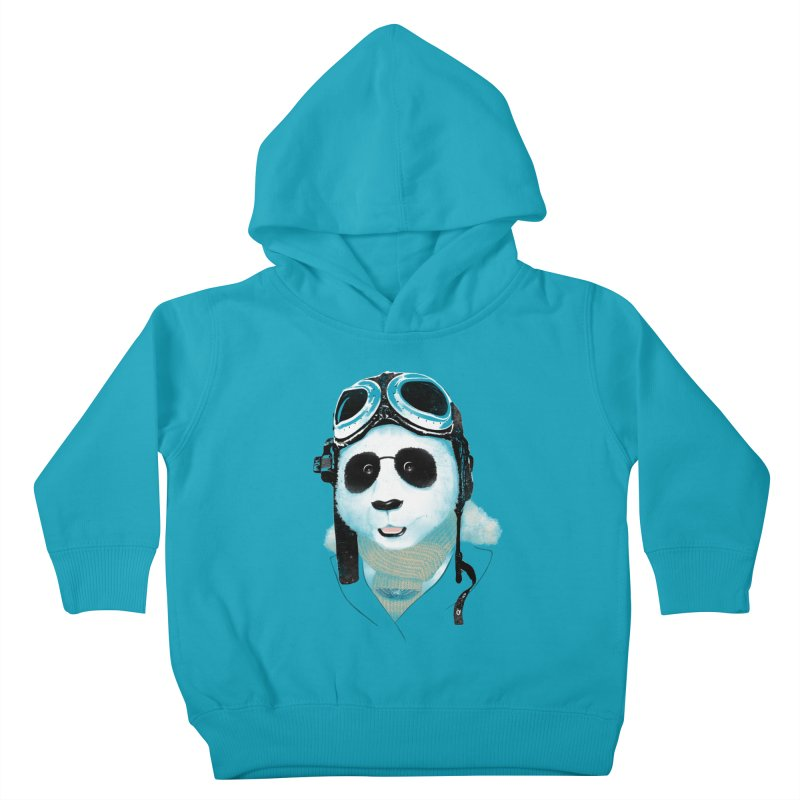 the aviator - born to fly Kids Toddler Pullover Hoody by Rejagalu's Artist Shop