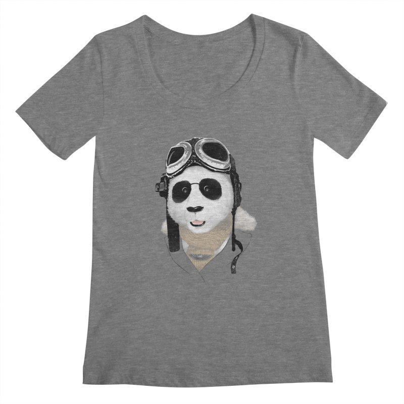 the aviator - born to fly Women's Scoopneck by Rejagalu's Artist Shop