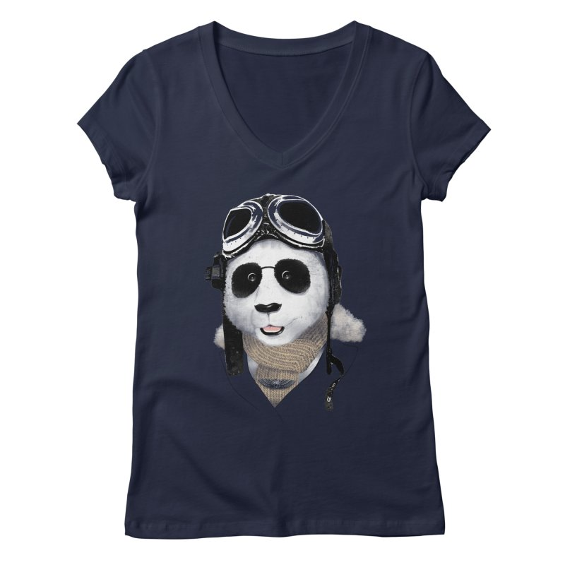 the aviator - born to fly Women's V-Neck by Rejagalu's Artist Shop