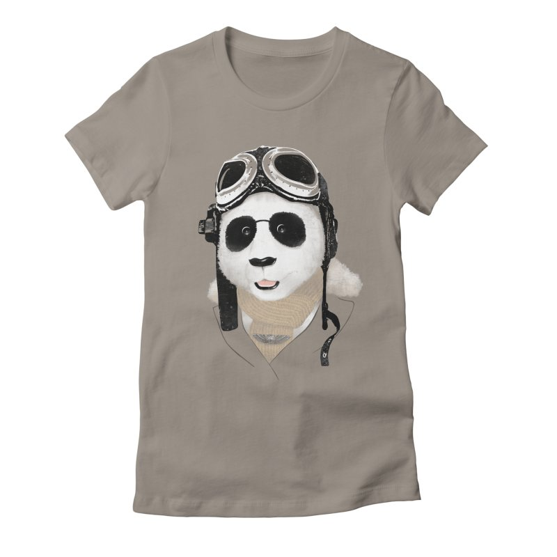 the aviator - born to fly Women's Fitted T-Shirt by Rejagalu's Artist Shop