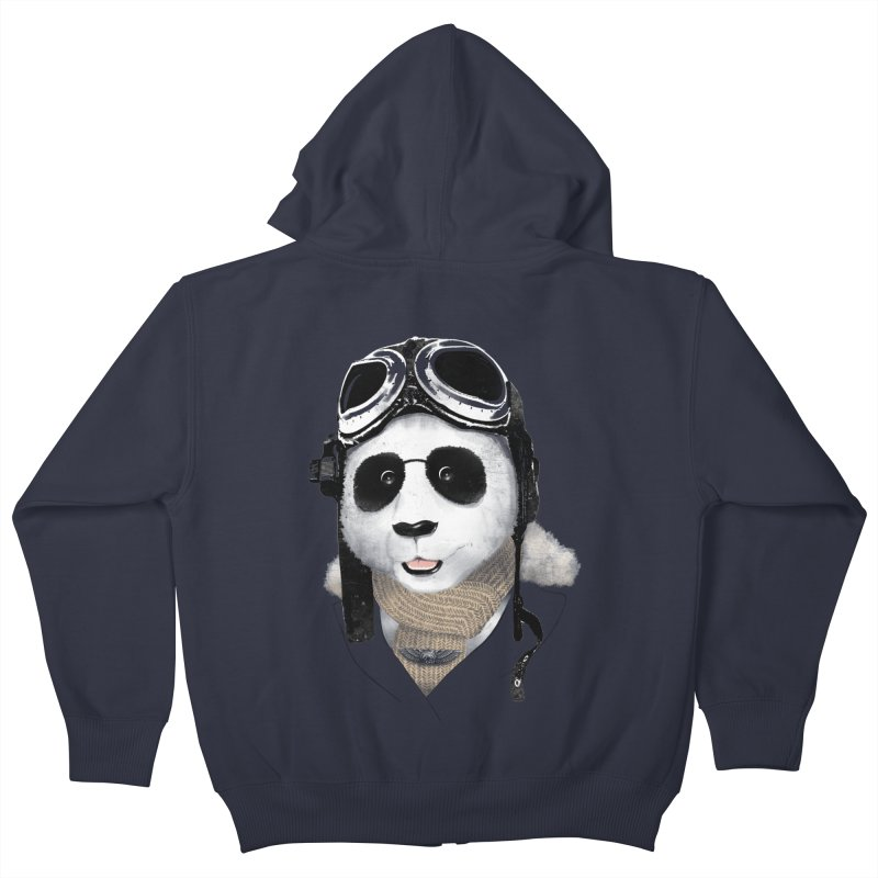 the aviator - born to fly Kids Zip-Up Hoody by Rejagalu's Artist Shop