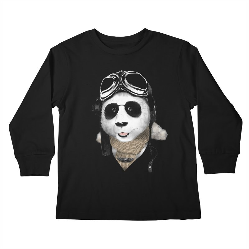 the aviator - born to fly Kids Longsleeve T-Shirt by Rejagalu's Artist Shop