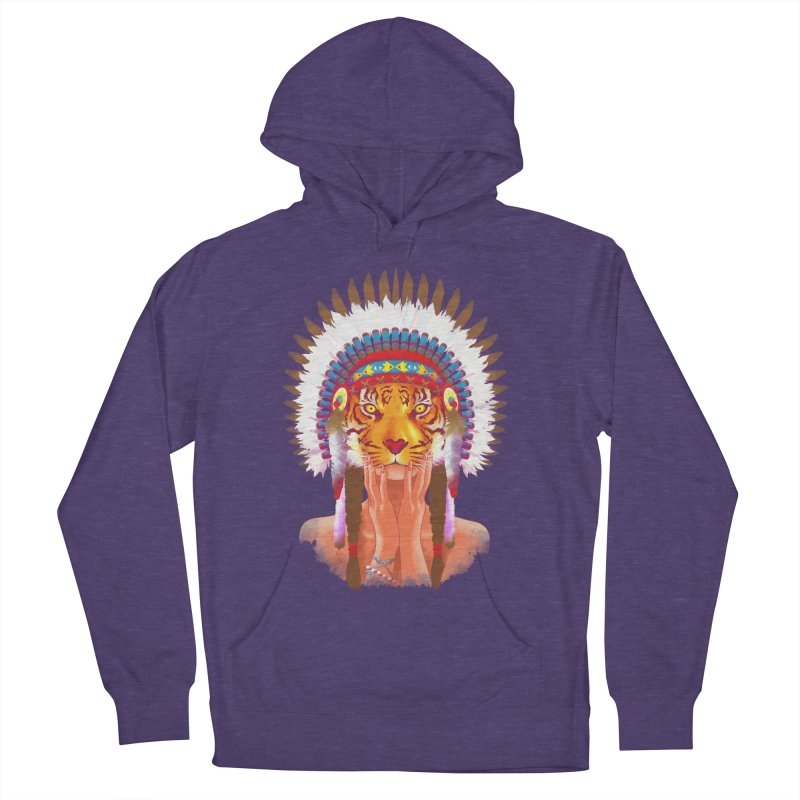 Native American tigress Women's Pullover Hoody by Rejagalu's Artist Shop