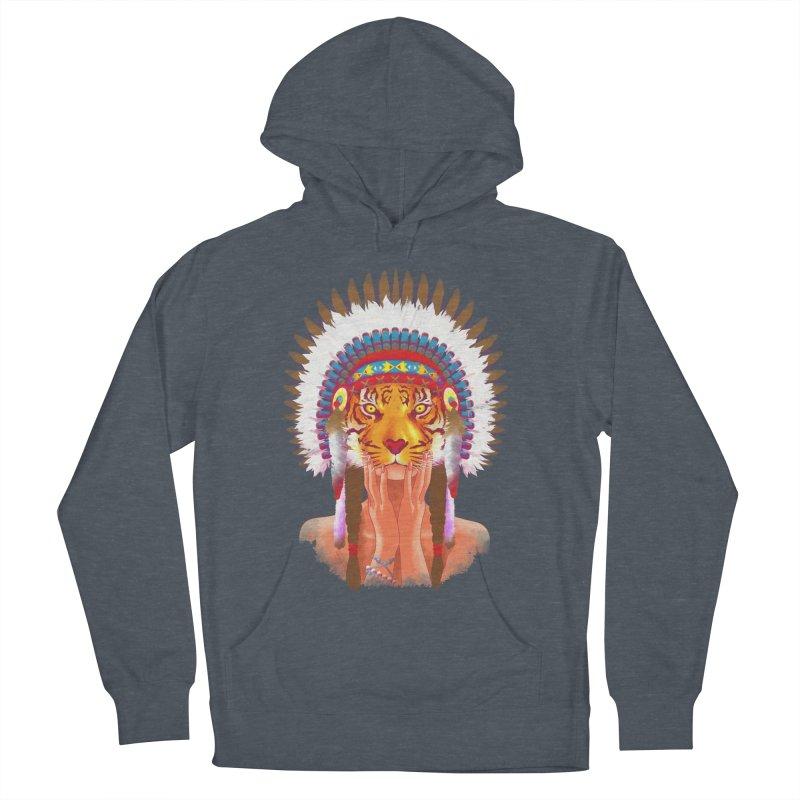 Native American tigress Men's Pullover Hoody by Rejagalu's Artist Shop
