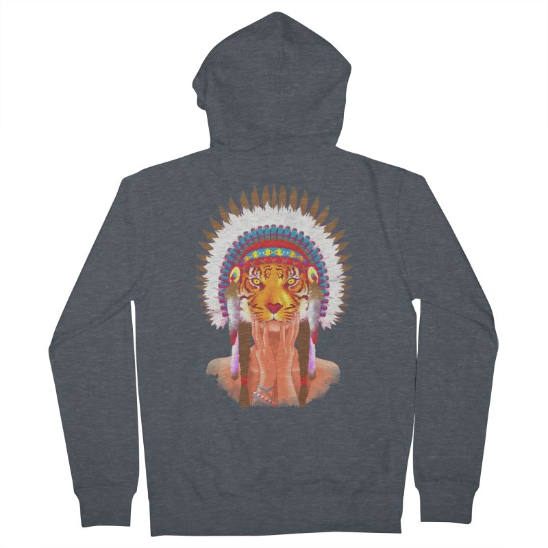 Native American tigress Women's Zip-Up Hoody by Rejagalu's Artist Shop