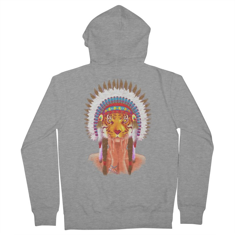 Native American tigress Women's Zip-Up Hoody by Rejagalu's Artist Shop