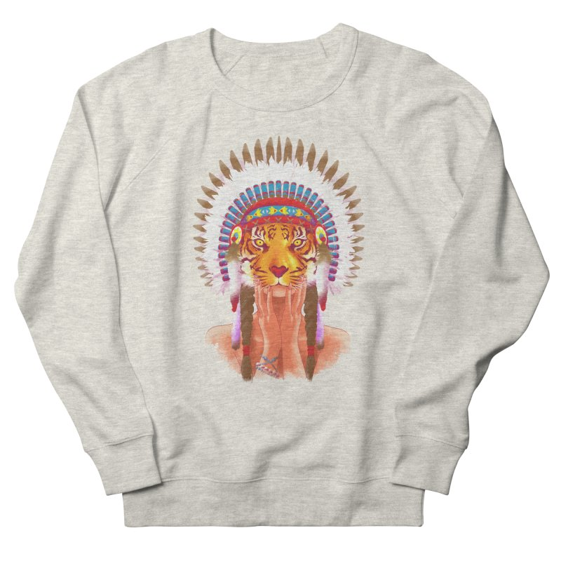 Native American tigress Women's Sweatshirt by Rejagalu's Artist Shop