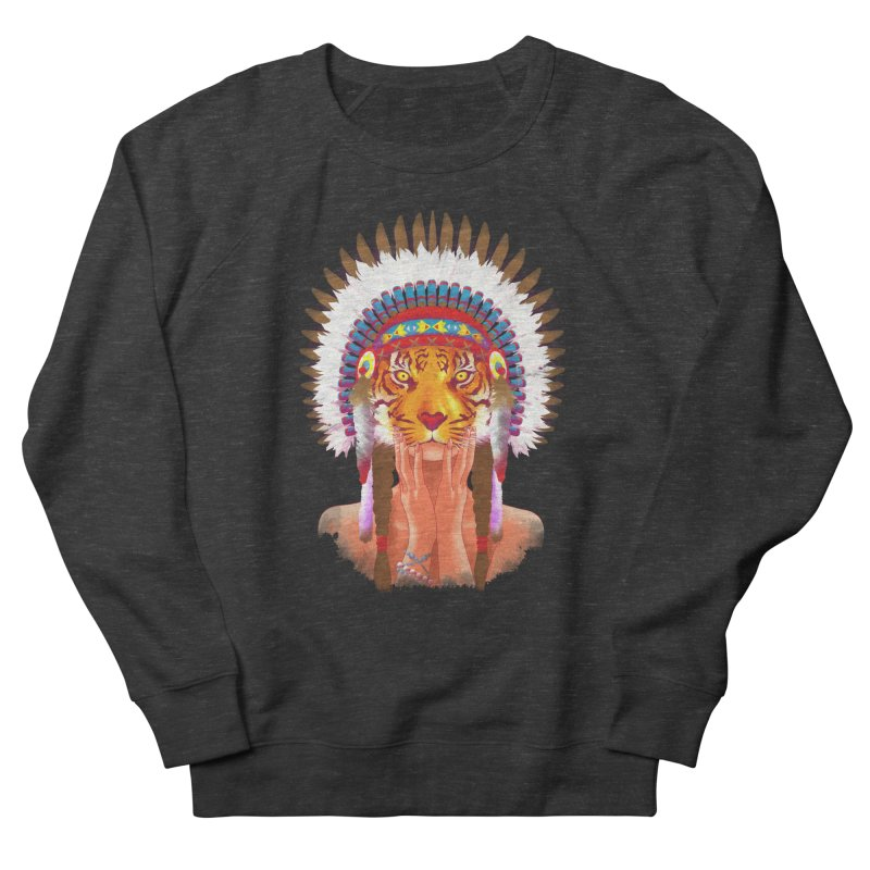 Native American tigress Men's Sweatshirt by Rejagalu's Artist Shop