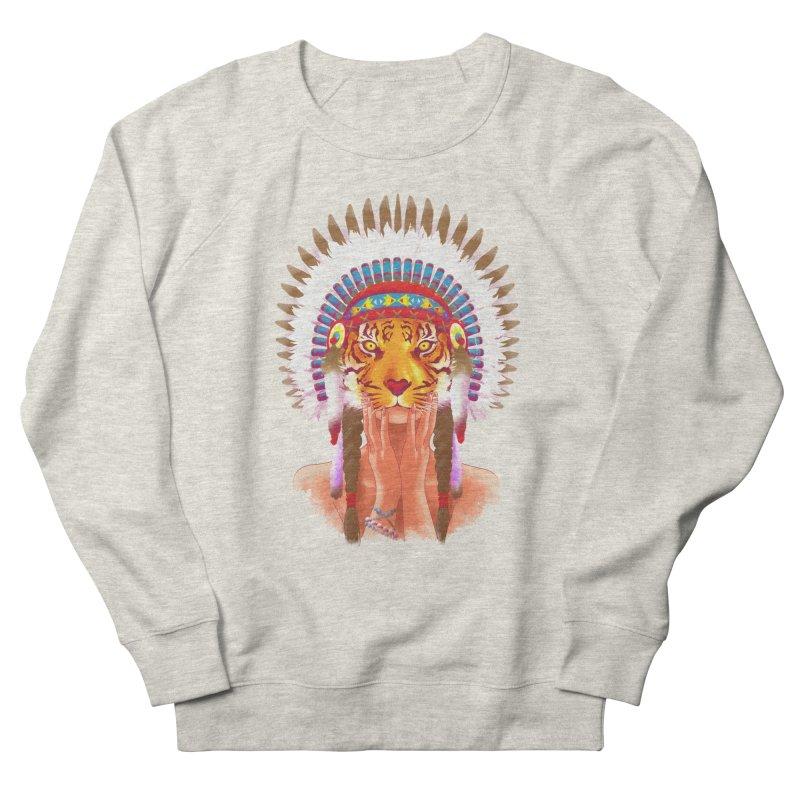 Native American tigress Men's Sweatshirt by Rejagalu's Artist Shop