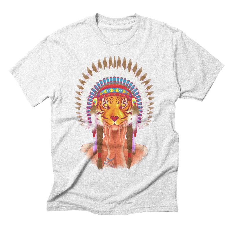 Native American tigress Men's Triblend T-shirt by Rejagalu's Artist Shop