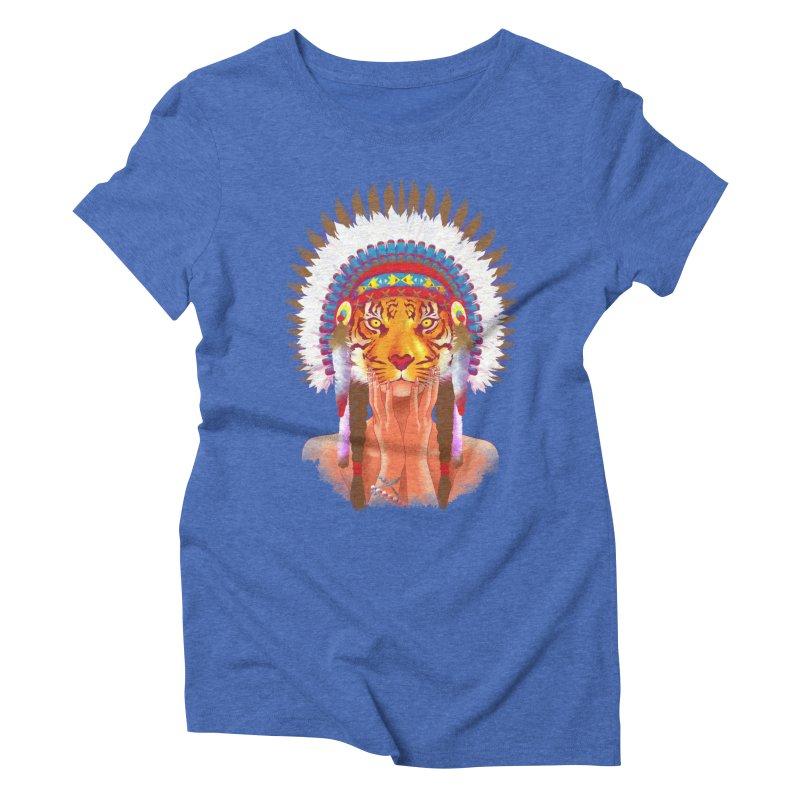 Native American tigress Women's Triblend T-shirt by Rejagalu's Artist Shop