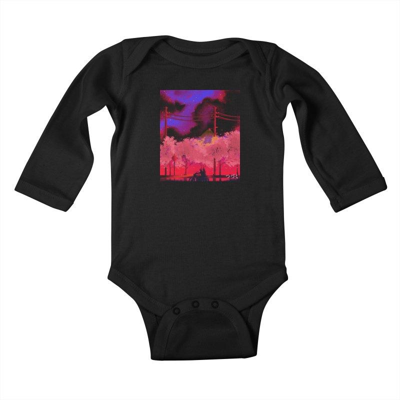 tsuzuku Kids Baby Longsleeve Bodysuit by Rejagalu's Artist Shop