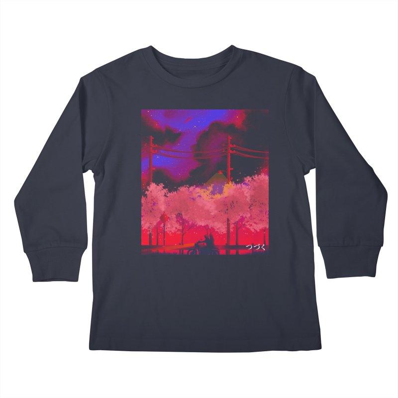 tsuzuku Kids Longsleeve T-Shirt by Rejagalu's Artist Shop