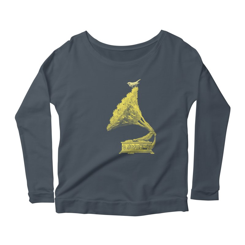 an old song by nature Women's Longsleeve Scoopneck  by Rejagalu's Artist Shop