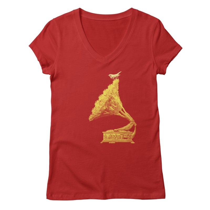 an old song by nature Women's V-Neck by Rejagalu's Artist Shop
