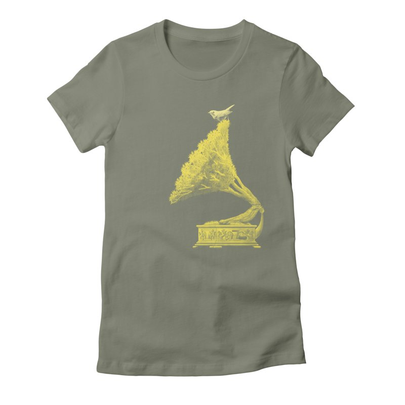 an old song by nature Women's Fitted T-Shirt by Rejagalu's Artist Shop