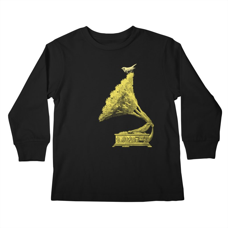 an old song by nature Kids Longsleeve T-Shirt by Rejagalu's Artist Shop