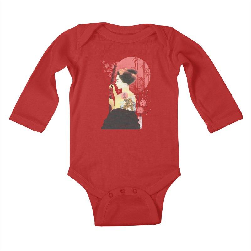 eiki Kids Baby Longsleeve Bodysuit by Rejagalu's Artist Shop