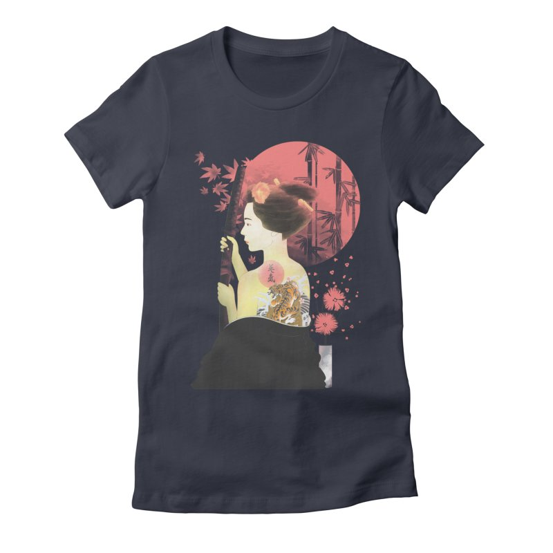 eiki Women's Fitted T-Shirt by Rejagalu's Artist Shop