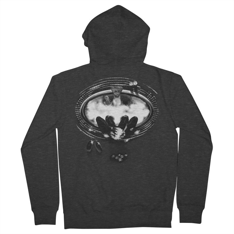 Bath-man - the dark knight rinses Women's Zip-Up Hoody by Rejagalu's Artist Shop