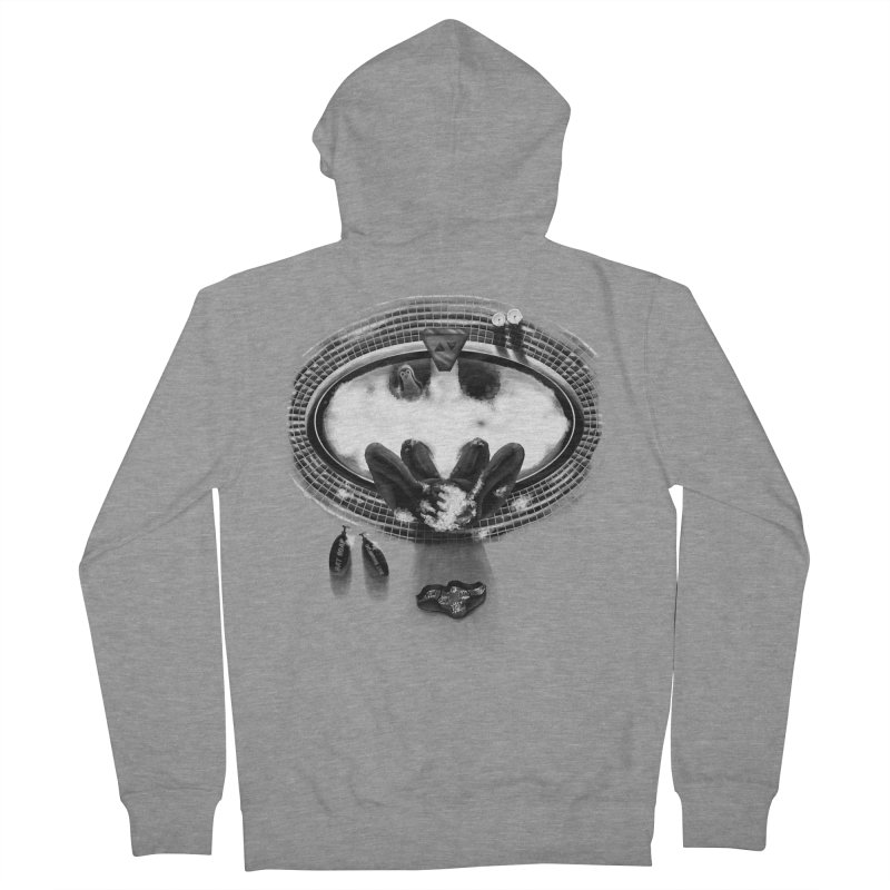 Bath-man - the dark knight rinses Men's Zip-Up Hoody by Rejagalu's Artist Shop