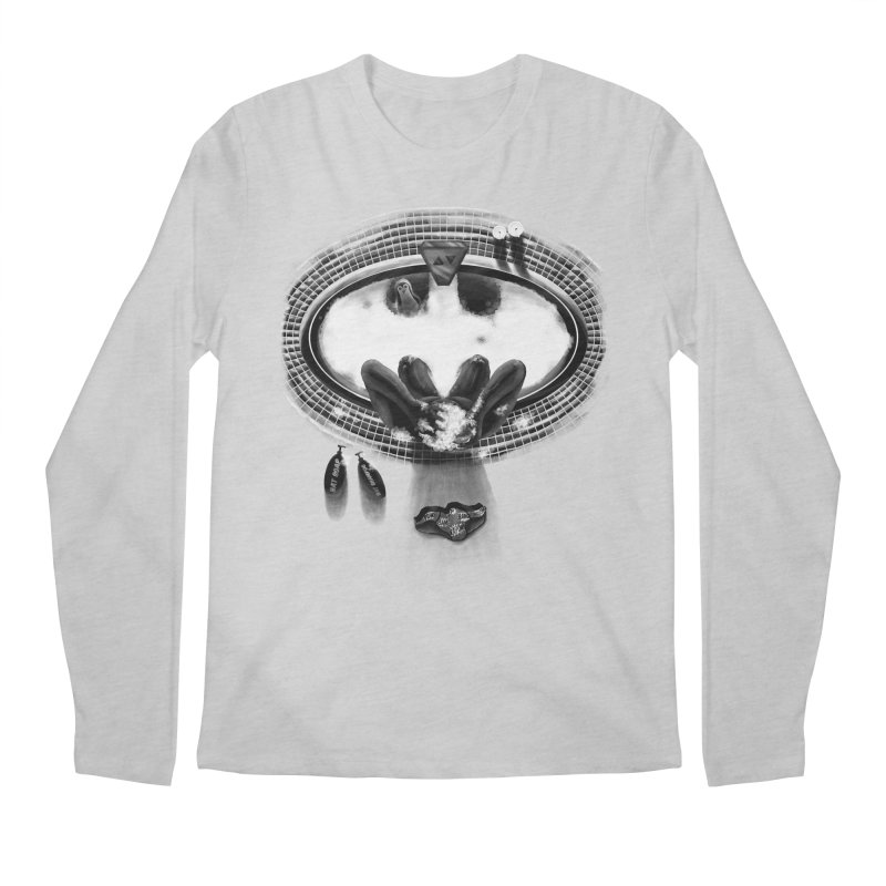 Bath-man - the dark knight rinses Men's Longsleeve T-Shirt by Rejagalu's Artist Shop