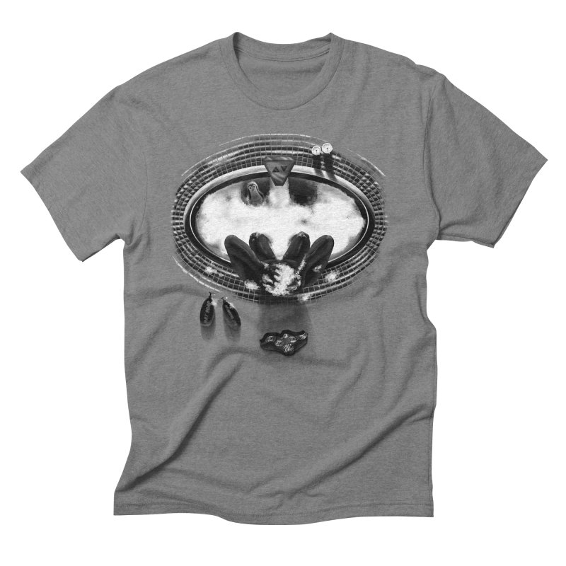 Bath-man - the dark knight rinses Men's Triblend T-Shirt by Rejagalu's Artist Shop