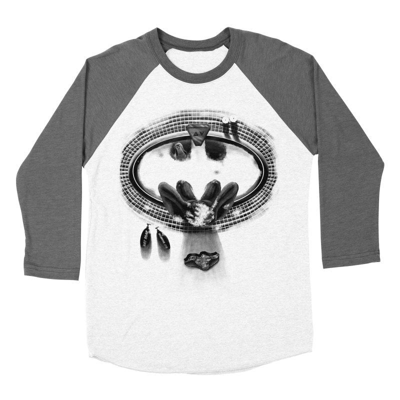 Bath-man - the dark knight rinses Women's Baseball Triblend T-Shirt by Rejagalu's Artist Shop