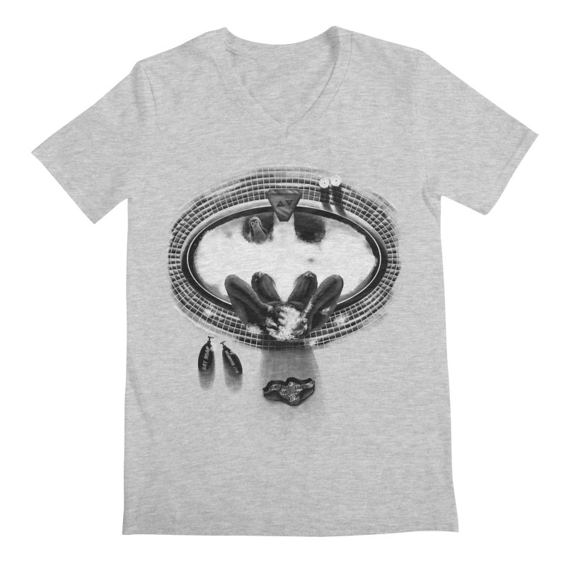 Bath-man - the dark knight rinses Men's V-Neck by Rejagalu's Artist Shop
