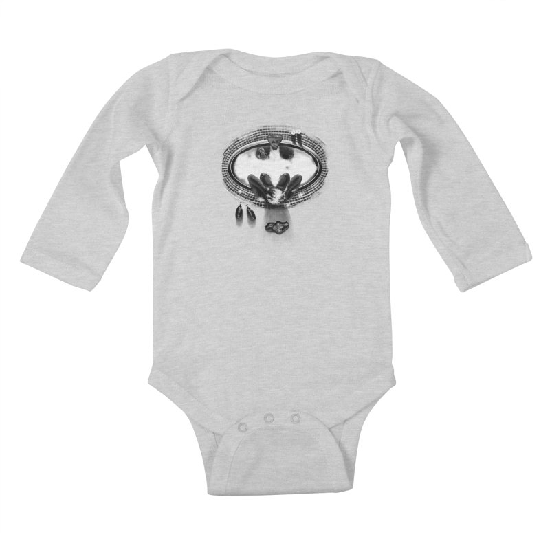 Bath-man - the dark knight rinses Kids Baby Longsleeve Bodysuit by Rejagalu's Artist Shop
