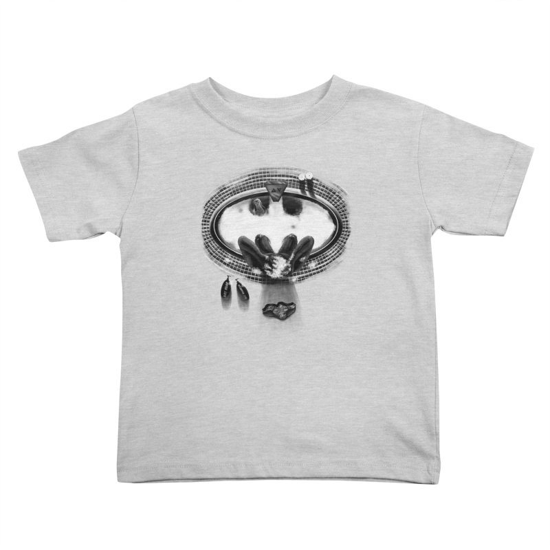 Bath-man - the dark knight rinses Kids Toddler T-Shirt by Rejagalu's Artist Shop