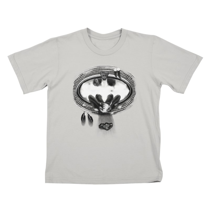 Bath-man - the dark knight rinses Kids T-Shirt by Rejagalu's Artist Shop