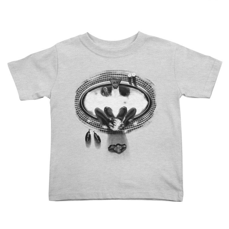Bath-man - the dark knight rinses Kids Toddler T-Shirt by Rejagalu's Artist Shop