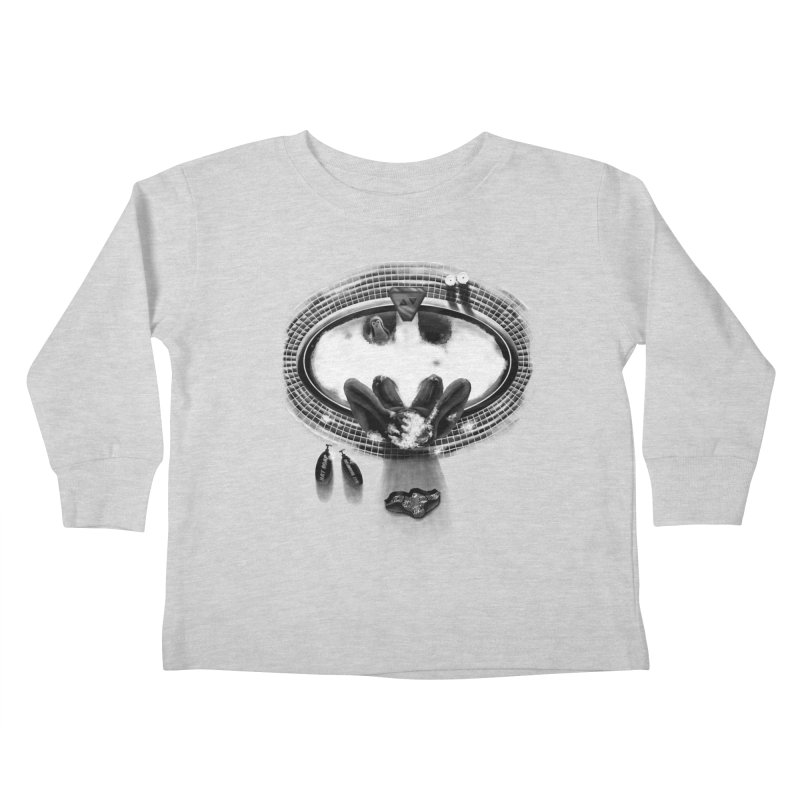 Bath-man - the dark knight rinses Kids Toddler Longsleeve T-Shirt by Rejagalu's Artist Shop