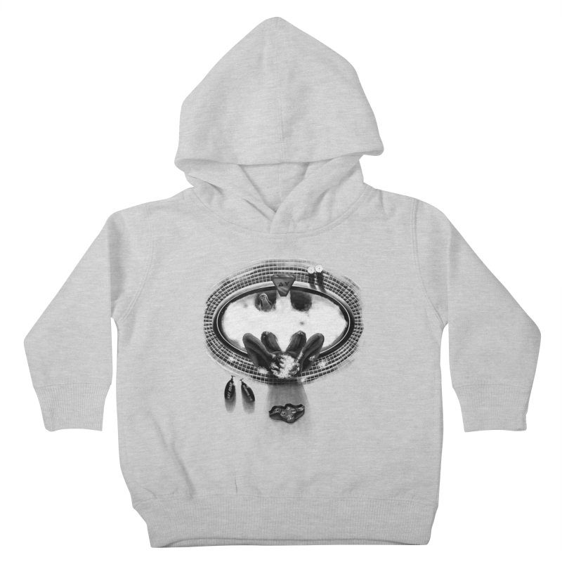 Bath-man - the dark knight rinses Kids Toddler Pullover Hoody by Rejagalu's Artist Shop