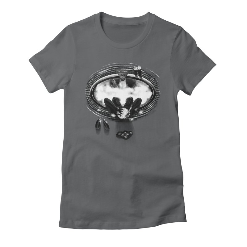 Bath-man - the dark knight rinses Women's Fitted T-Shirt by Rejagalu's Artist Shop