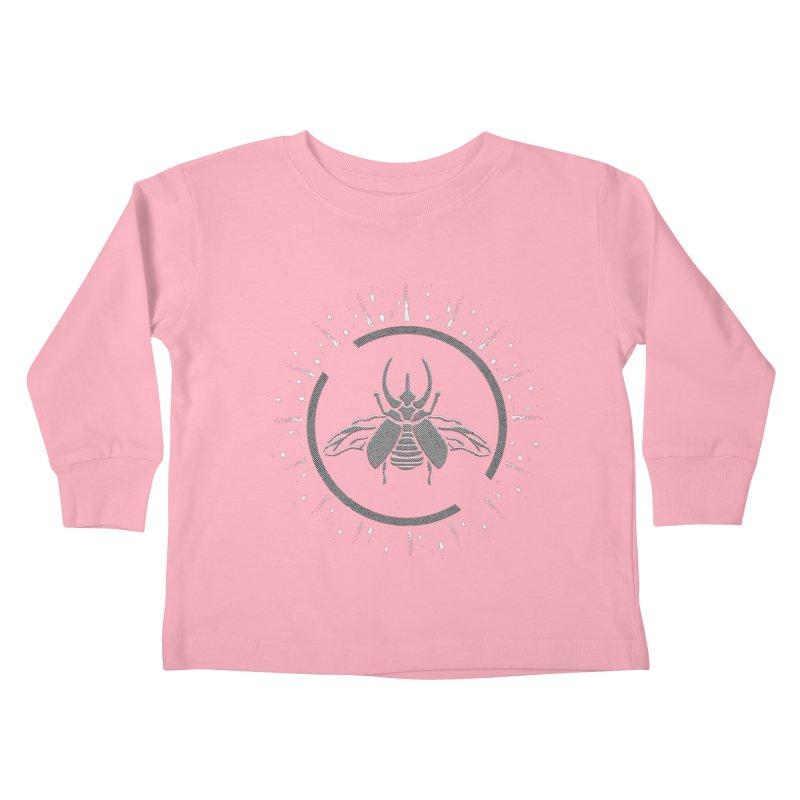 Horned Atlus  Kids Toddler Longsleeve T-Shirt by Relkcruts's Artist Shop