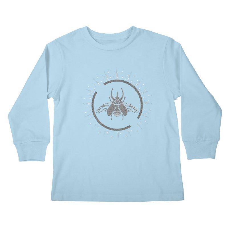 Horned Atlus  Kids Longsleeve T-Shirt by Relkcruts's Artist Shop