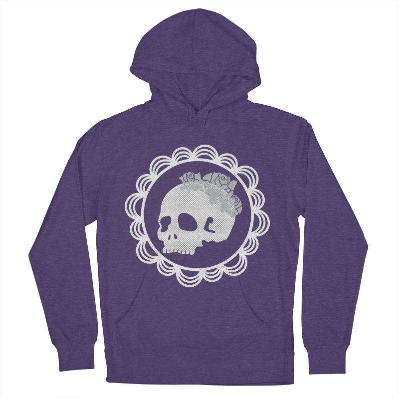 Skull & Roses Men's Pullover Hoody by Relkcruts's Artist Shop