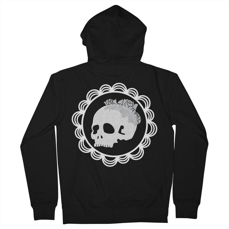 Skull & Roses Men's Zip-Up Hoody by Relkcruts's Artist Shop