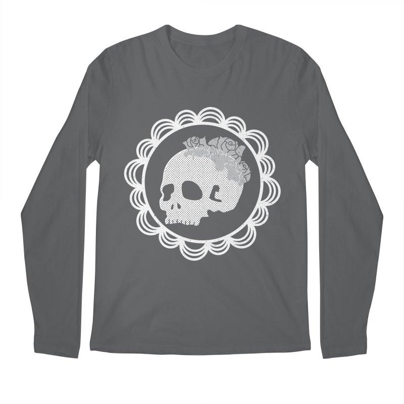Skull & Roses Men's Longsleeve T-Shirt by Relkcruts's Artist Shop