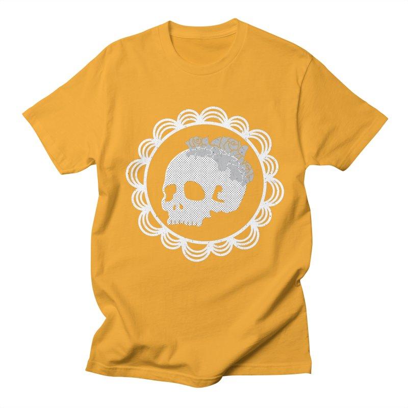 Skull & Roses Men's T-shirt by Relkcruts's Artist Shop