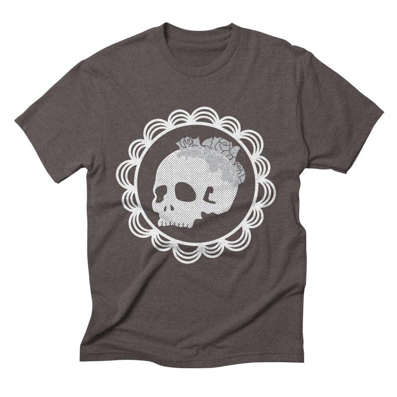 Skull & Roses Men's Triblend T-Shirt by Relkcruts's Artist Shop