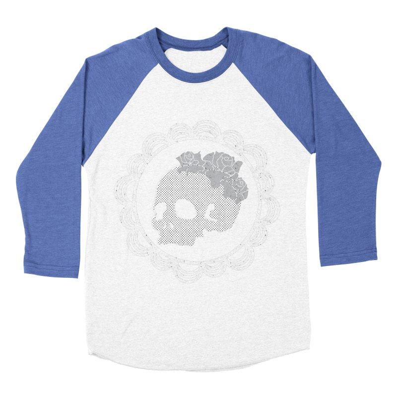 Skull & Roses Men's Baseball Triblend T-Shirt by Relkcruts's Artist Shop