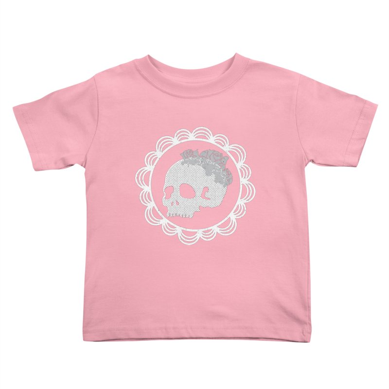 Skull & Roses Kids Toddler T-Shirt by Relkcruts's Artist Shop