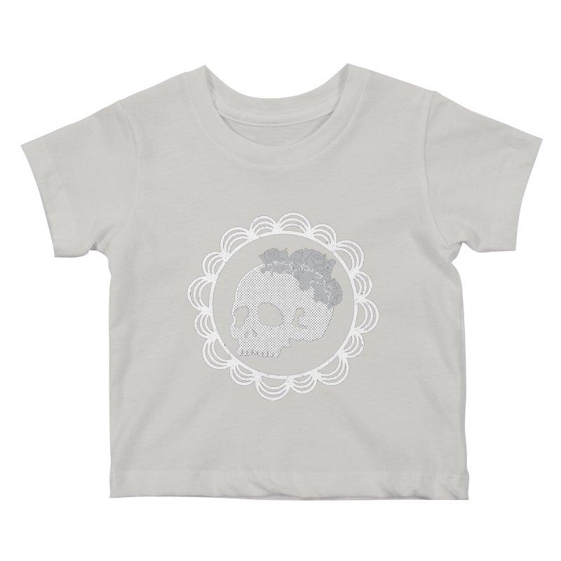 Skull & Roses Kids Baby T-Shirt by Relkcruts's Artist Shop