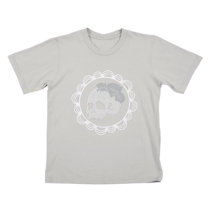 Skull & Roses Kids T-shirt by Relkcruts's Artist Shop