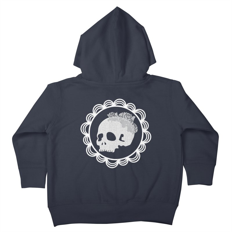 Skull & Roses Kids Toddler Zip-Up Hoody by Relkcruts's Artist Shop