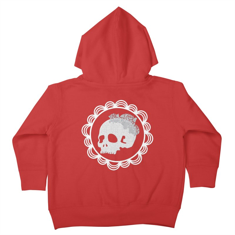 Skull & Roses Kids Toddler Zip-Up Hoody by Relkcruts's Artist Shop