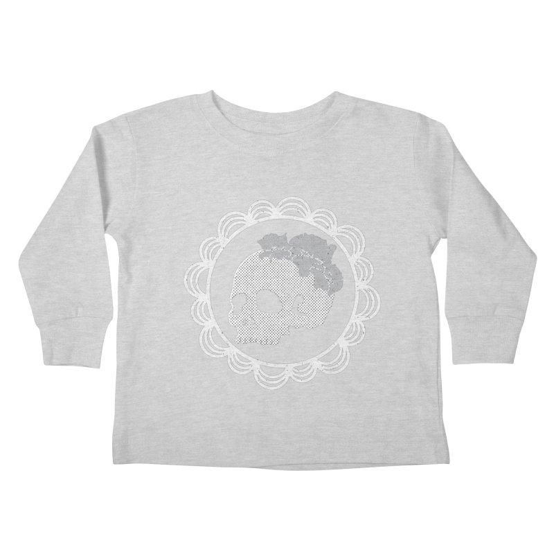 Skull & Roses Kids Toddler Longsleeve T-Shirt by Relkcruts's Artist Shop